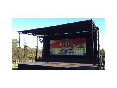 Bison Mobile Stage 9m x 7m |Stage Hire - Melbourne, Sydney, Adelaide, Brisbane
