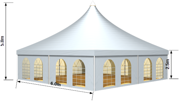 6 metres x 6 metres  sc 1 st  Cocktail King & Pagoda Tent 6 x 6 | Pagoda Tent Hire - Melbourne Sydney Adelaide ...