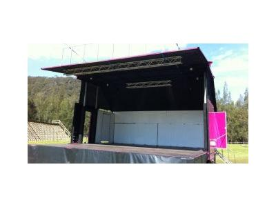 Hydro Mobile Stage 7m x 7m  Stage Hire - Melbourne, Sydney, Adelaide, Brisbane